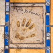 Stock Photo: Print of a palm of a hand of the known actor, Cannes