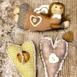 Christmas Angel and hearts — Stock Photo