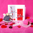 Still-life for valentines day — Stock Photo