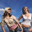 Stock Photo: Girls near river