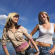 Stockfoto: Girls near river