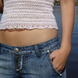 The girl in the jeans — Stock Photo