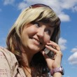 Girl with telephone — Stock Photo #39842517