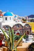 Beautiful Oia, church in Santorini island — Stock Photo