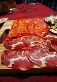Italy, area Calabria, meat — Stock Photo