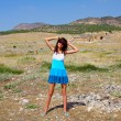 Young woman in Pamukkale, Turkey — Stock Photo #39992565