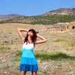 Young woman in Pamukkale, Turkey — Stock Photo