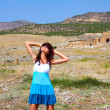 Young woman in Pamukkale, Turkey — Stock Photo #39992573