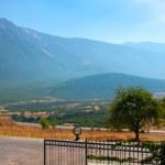 Pamukkale, Turkey. Mountains and road — Stock Photo #39992575