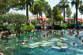 People swiming in ancient pool of queen Cleopatra — Stock Photo