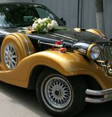 Wedding motor-car — Stock Photo