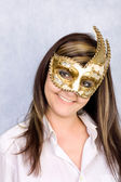 Donna in maschera di carnevale — Foto Stock