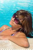 Woman in pool — Stock Photo