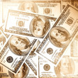 Money dollars, vintage style — Stock Photo