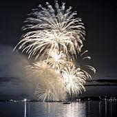 Celebratory bright firework in sky  — Stock Photo