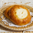 Fresh baked curd tart — Stock Photo #51085169