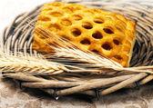 Verse gebakken groenten taart met tarwe — Stockfoto