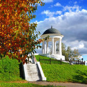 Autumnal nature with pavilion — Foto Stock