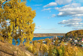 Autumnal nature in Ples town — Stock Photo