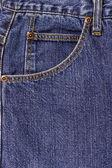 Blue jeans pocket — Foto de Stock