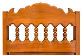Chair back wood carving. — Stock Photo