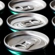 A group of cans background — Stock Photo