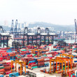 Постер, плакат: Containers at Hong Kong commercial port
