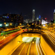 Hong Kong city at night. — Stock Photo