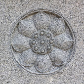 Lotus flower stone carving. — Photo