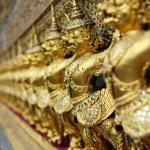 Golden garuda statues — Stock Photo