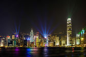Stunning Light show in Hong Kong. — Stock Photo