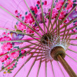Pink umbrella. — Stock fotografie