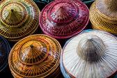 Bamboo hats craft. — Stock fotografie