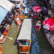 Damnoen Saduak Floating Market. — Stock Photo