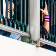 Thailand's protest people 'hand. — Stock Photo