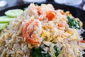 Smažená rýže s krevetami. — Stock fotografie