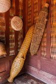 Ancient  fish trap bamboo equipment. — Stock Photo