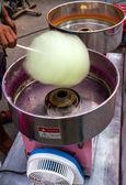 Stroj na cukrovou vatu. — Stock fotografie