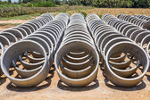 Cement pipes or Concrete pipe — Stock Photo