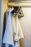 Bathrobe in wardrobe. — Stock Photo