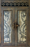 Ancient wood Carving Pattern. — Stockfoto