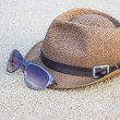 Woven hat with sunglasses. — Stock Photo #44755909