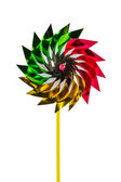 A multicolored pinwheel toy. — Stock Photo