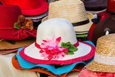 Colorful of vintage woven hat. — Stock Photo