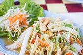 Thai papaya spicy salad with crab, Som Tum. — Stock Photo