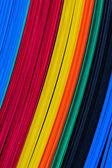 Color corrugated plastic sheets, feature board. — Stock Photo