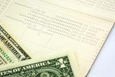 Saving account passbook, book bank. — Stock Photo