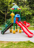 Playground equipment in the park. — 图库照片