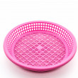 Pink plastic basket. — Stock Photo #47919505