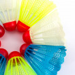 Colorful of plastic shuttlecocks toy. — Stock Photo #48585433